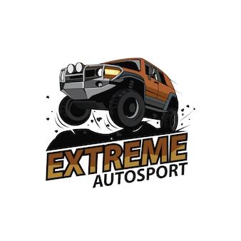 Logotipo del coche jeep, deporte extremo