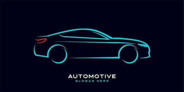 Logotipo del coche con líneas dinámicas, modernas y sofisticadas.