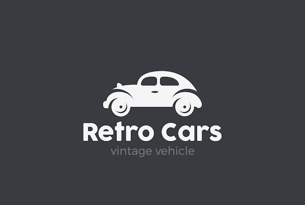 Logotipo de coche retro.