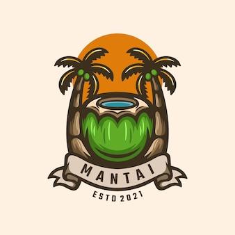 Logotipo de coco y palma