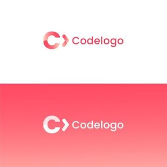 Logotipo de código degradado