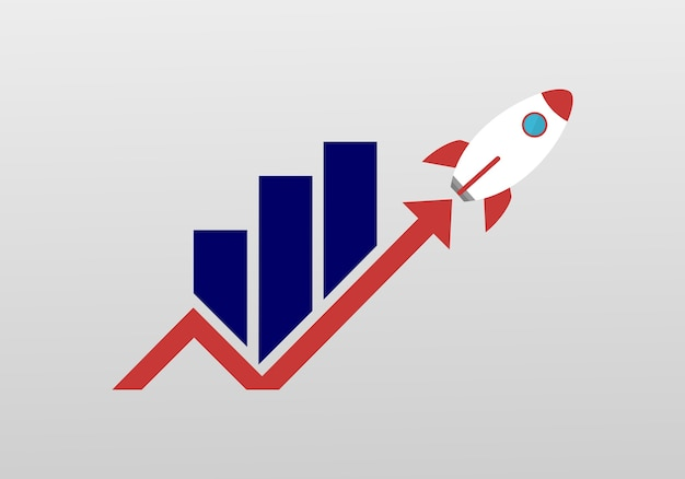 Logotipo del cohete de marketing