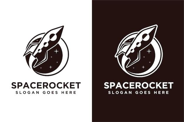 Logotipo de cohete de nave espacial