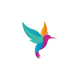 Logotipo de colibrí colorido moderno