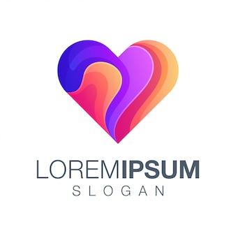 Logotipo de color de amor
