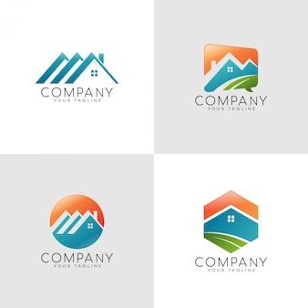 Logotipo de color de casa