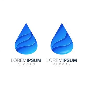 Logotipo de color degradado de agua