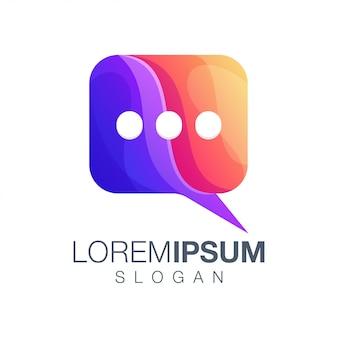 Logotipo de color degradado de formas de llamada