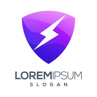 Logotipo de color degradado de inspiración lightning