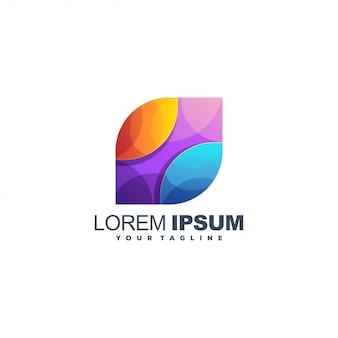 Logotipo de color degradado de medios abstractos