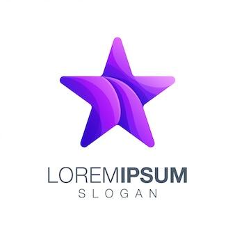 Logotipo de color degradado star
