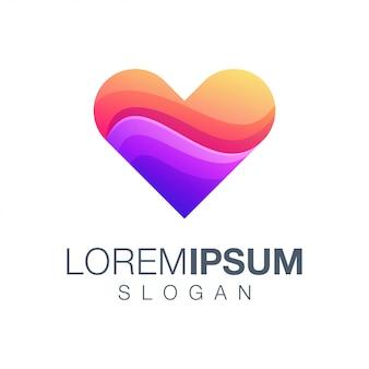 Logotipo de color de inspiración de amor