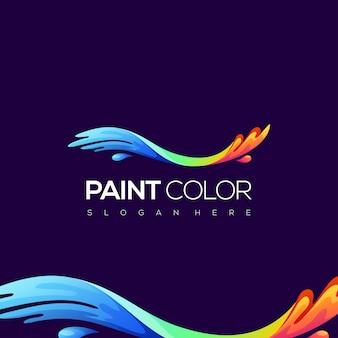Logotipo de color de pintura