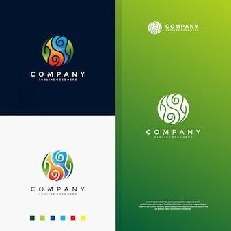 Logotipo de colorfull yin yang