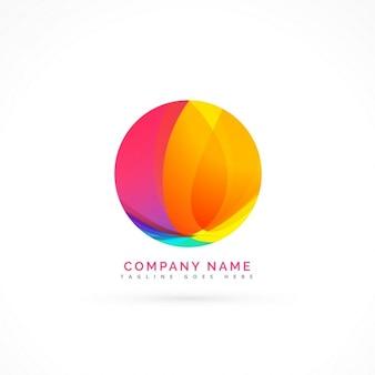 Logotipo con una colorida esfera
