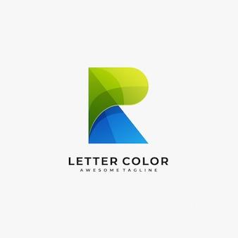 Logotipo colorido abstracto de la letra r.