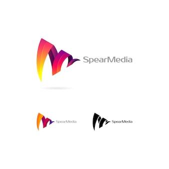 Logotipo colorido abstracto
