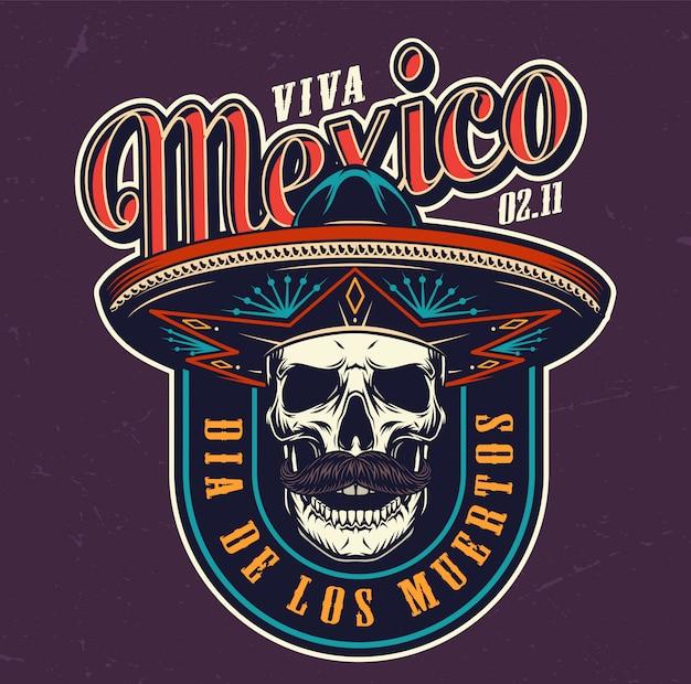 Logotipo colorido de dia de los muertos