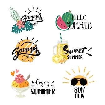 Logotipo colorido del día de verano