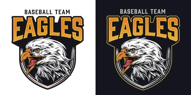 Logotipo colorido del equipo de béisbol