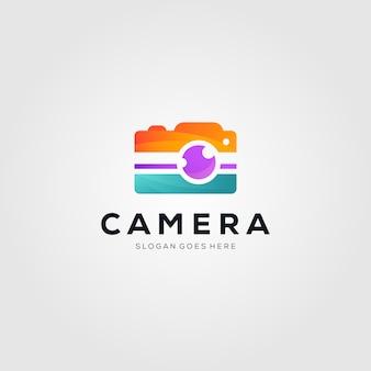 Logotipo colorido de fotografía de cámara