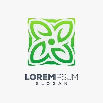 Logotipo colorido de la hoja