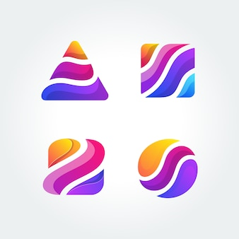 Logotipo colorido ilustración vectorial plantilla