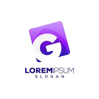 Logotipo colorido de la letra g