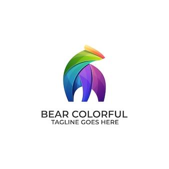 Logotipo colorido oso