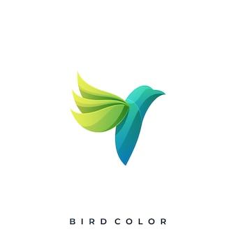 Logotipo colorido del pájaro moderno plantilla de vector
