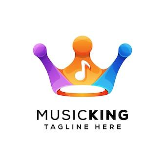 Logotipo colorido del rey de la música