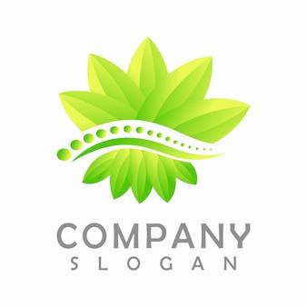Logotipo de la columna vertebral. ilustración 3d
