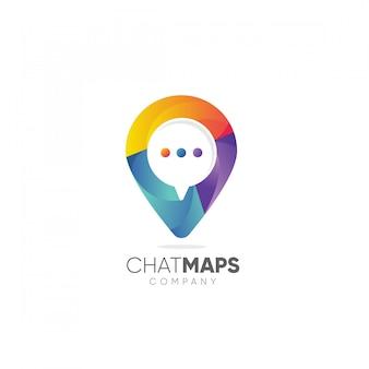 Logotipo de la compañía de mapas de chat