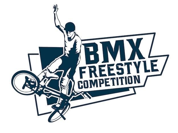 Logotipo de competición de estilo libre de bmx