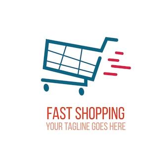 Logotipo de compras rápidas