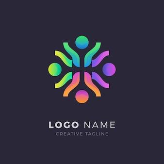Logotipo comunitario abstracto