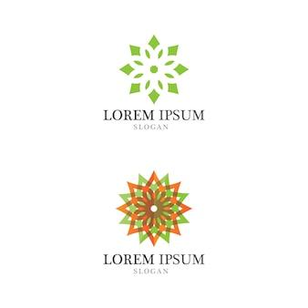 Logotipo de concepto ecológico de hoja de árbol