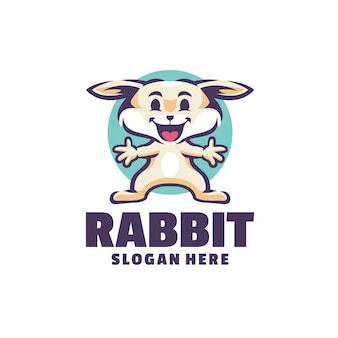 Logotipo de conejo aislado en blanco