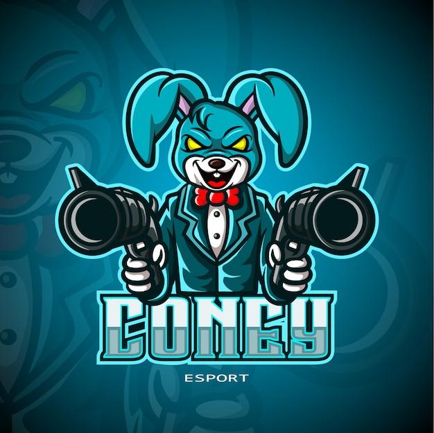 Logotipo de conejo mafia esport