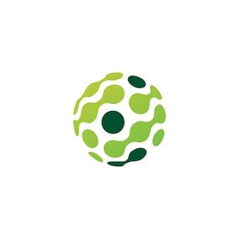 Logotipo de la conexión de la tecnología de la esfera del punto