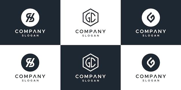Logotipo del conjunto de monogramas