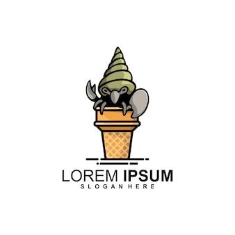 Logotipo de cono de ermitaño