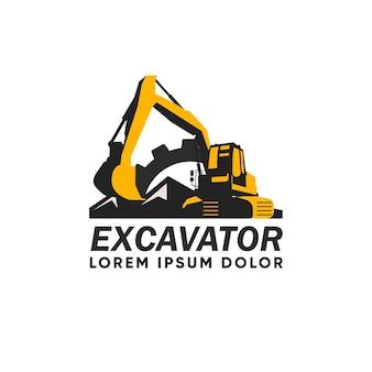 Logotipo de construcción de excavadoras