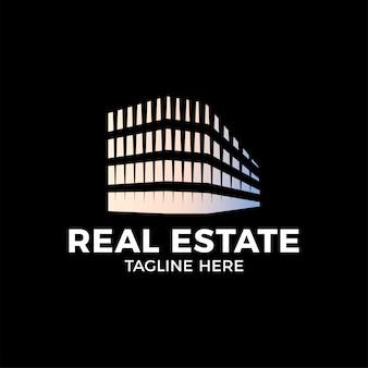 Logotipo de construcción inmobiliaria