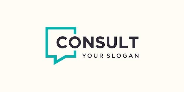 Logotipo de consulta de marca de trabajo simple