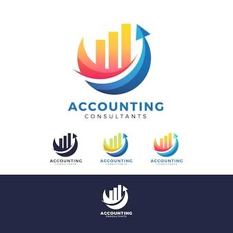 Logotipo de contabilidad degradado