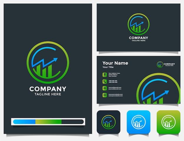 Logotipo de contabilidad y tarjeta de visita