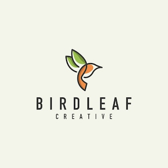 Logotipo de contorno de pájaro