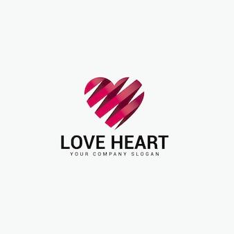Logotipo de corazón de amor
