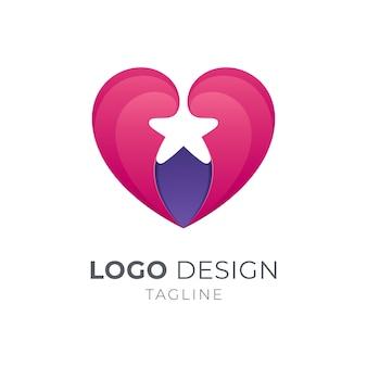 Logotipo de corazón + estrella